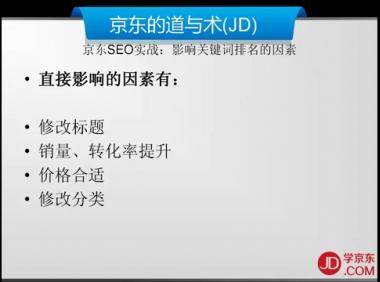 3.搜索篇-42.影响关键词排名的因素-京东商城运营培训全套教程系列课程