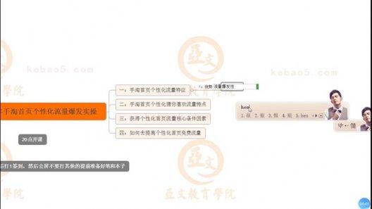 2020.03.25 2020年手淘首页个性化流量爆发实操-亚文教育vip教程