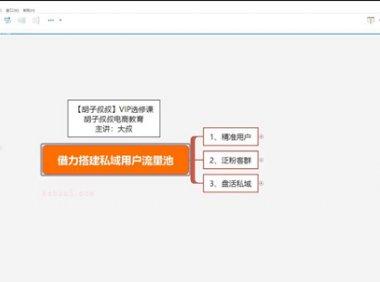 20年2月28-大叔《借力搭建私域用户流量池》-胡子【有名堂课程】